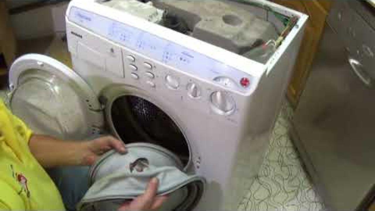 Как заменить манжету двери на стиральных машинах  Hoover