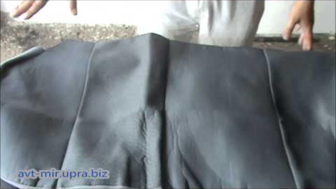 Как одеть чехлы на сиденья автомобиля видео на примере Daewoo Lanos