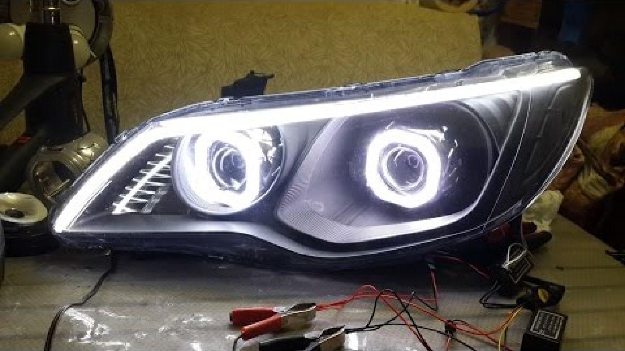 Тюнинг фар (оптики) Honda Civic 8 4d - как это сделать.