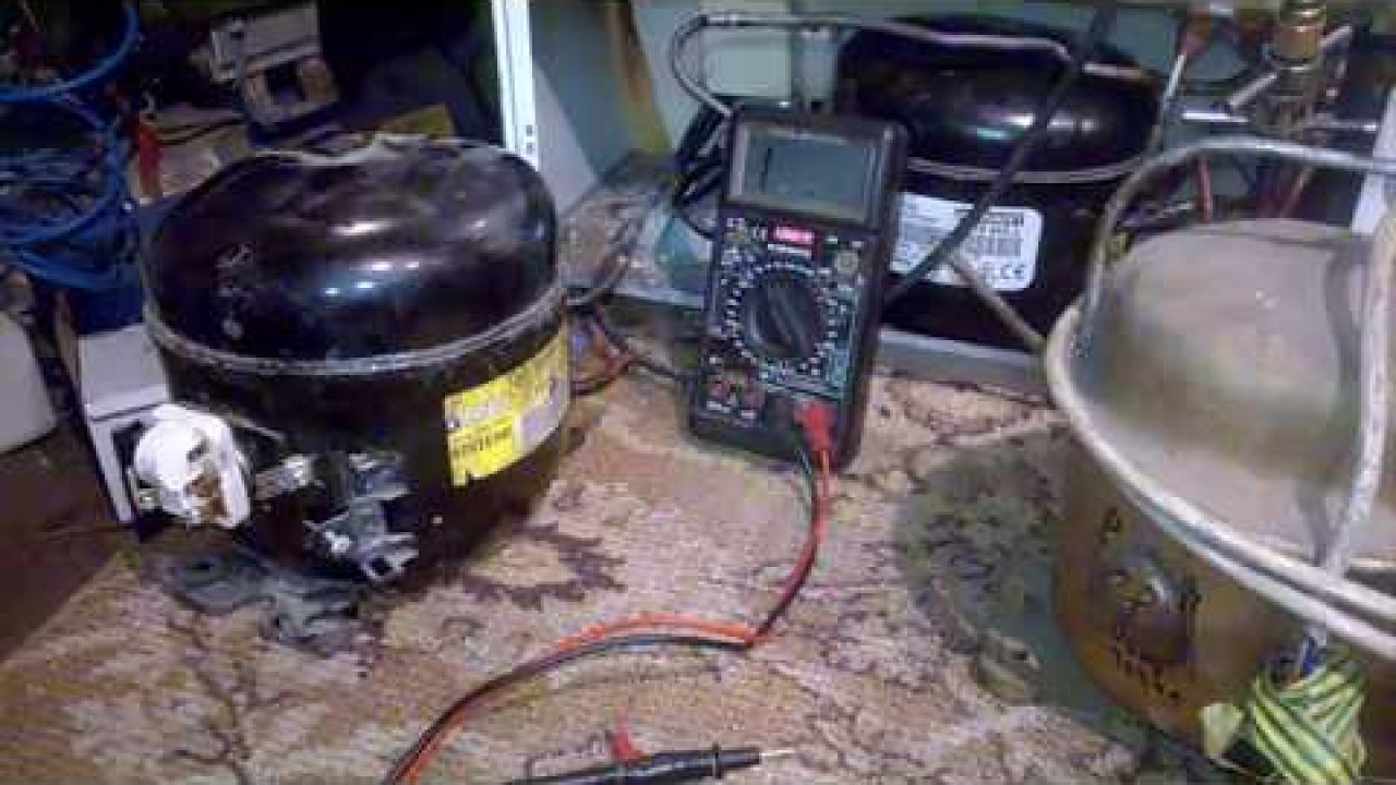 Как запустить заклинивший мотор - компрессор холодильника Amica
