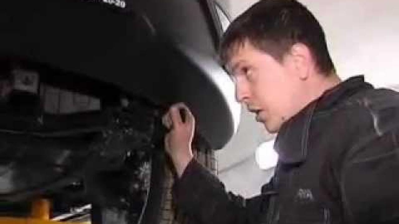 SsangYong Action Установка защиты переднего бампера