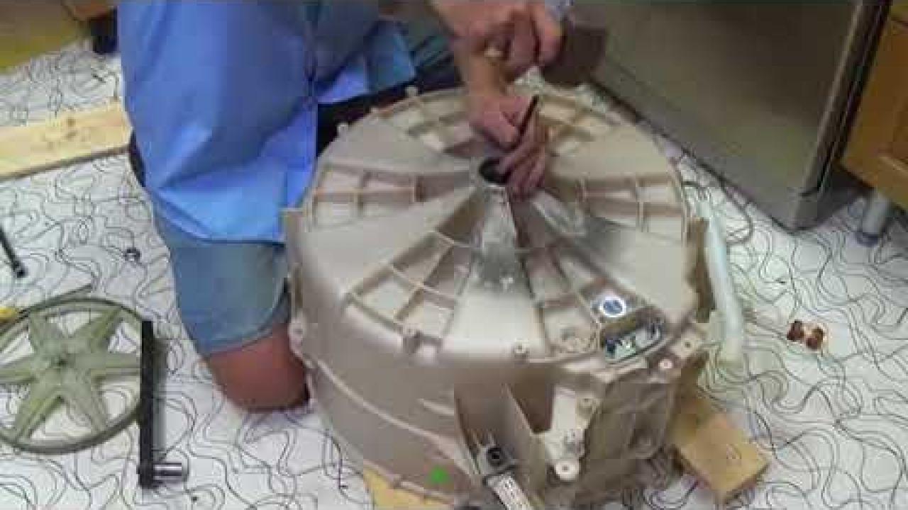 Как заменить подшипники на стиральных машинах Hoover